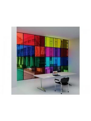 Folie Adeziva Colorata Din PVC Transparent Ideala Pentru Geamuri Si Vitrine