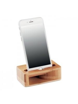 Suport si Amplificator Smartphone din Bambus