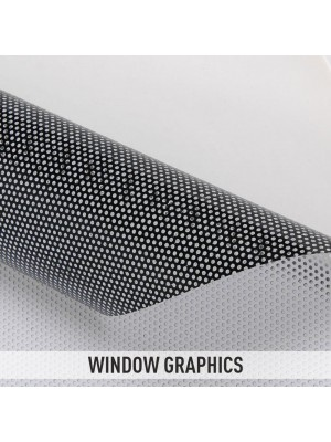 Window Graphics Film Folie Autocolanta Perforata Pentru Colantari Geamuri Vitrine